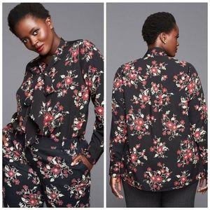 Lane Bryant Glamour X Floral Blouse
